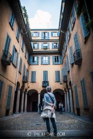 """Milan """"Cortili Aperti"""" - discovering private courtyards in Brera, Milan, Casa Sioli Legnali, Borgonuovo street, 5"""